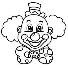 Small Picture Clown Coloring Pages FunyColoring