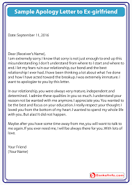 apology letter to girlfriend apology letter to ex girlfriend