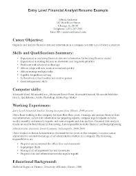 Entry Level Resume Objective Delectable Objectives For Resume Resume Objective Finance Entry Level Objective
