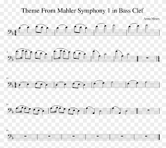 Theme From Mahler Symphony 1 In Bass Clef Sheet Music