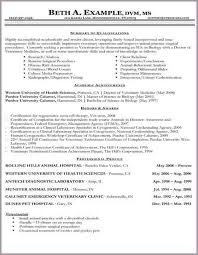 Vet Tech Resume Resume Veterinary Technician Veterinary Technician