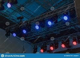 Lighting Frames Professional Lighting Equipment Installed Above The Stage On