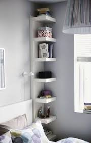 A Space Saving Ideas For Small Spaces Corner Shelves In Bedroom