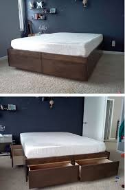 platform in bedroom 21 diy bed frame projects sleep in style and comfort diy crafts