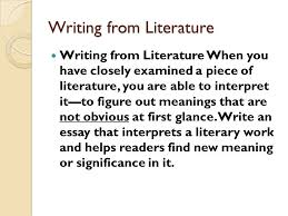 literary analysis and interpretive essay english honors ppt literary analysis and interpretive essay english 2 honors 2 writing