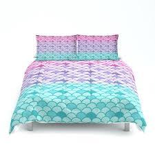 mermaid duvet cover mermaid scales comforter or duvet cover set twin full queen king bedding pink mermaid duvet cover