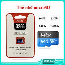 Thẻ nhớ Micro SD Netac P500 32Gb UHS-1 Class 10 chuẩn U1 Full HD Video  chính hãng Totem phân phối tốt giá rẻ