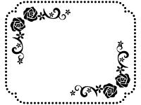 バラ 無料イラスト かわいいフリー素材集 フレームぽけっと