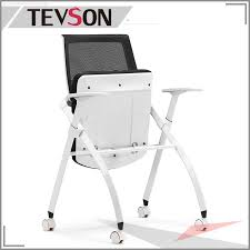 school lab library wheels mesh folding office traning chair dhs ge02c