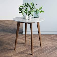 What is james furniture design? Amazon Com Nathan James Amalia Round Marble Bistro Dining Table With Legs In Wood Finish And Faux White Carrara Marble Table Top Antique Coffee Furniture Decor