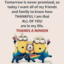 Thankful Quotes For Friends Enchanting Thankful To All My Friends Minion Quote Pictures Photos And Images