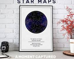 Etsy Star Chart Personalized Sky Map Etsy
