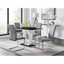 white high gloss glass dining table