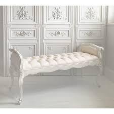 Provencal White Long Stool   Bedroom Bench   komadi   White bedroom ...