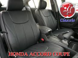 clazzio leather seat covers for honda accord coupe 2008 full set