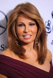 raquel welch mid length hairstyle for business women over 50