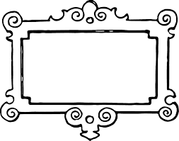 borders and frames picture frame black and white clip art fl border art