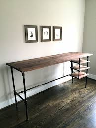 the wyatt desk standing desk seated desk reclaimed wood pipe