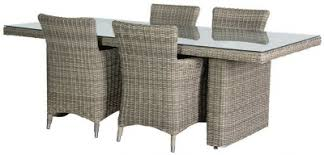 grey rattan dining table. outdoor rattan dining table with 4 chairs grey