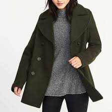 old navy classic wool blend peacoat for women
