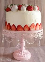 Cheesecake Display Stands Strawberries And Cream Layered Cheesecake Amalfi Decor Cake Stands 95