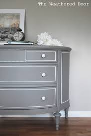 gray and white dresser. Grey Demi Lune Dresser With White Accents Inside Gray And
