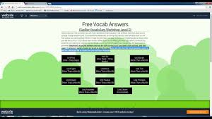 Vocab Answers Level D Sadlier Vocabulary Workshop Level D Answers