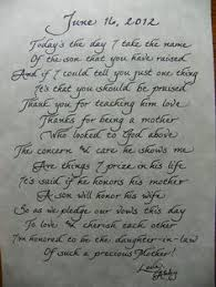 Love This Idea Of Writing A Heart Felt Letter To The Mother Of The