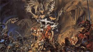 dark fantasy art crânios guerreiros de batalha escuro demônios armas espada mal esqueleto horror 4 tamanhos home decor canvas poster print em pintura