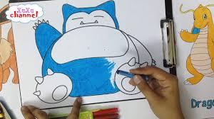 Pokemon Go - Snorlax - Tô màu Snorlax bụng bự - Có link download tranh -  YouTube