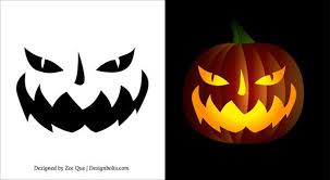 Scary Face Pumpkin Carving Patterns