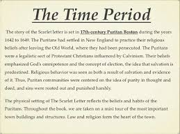 the scarlet letter the time periodthe story of the scarlet letter