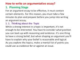 lecture on writing argumentative essays ppt 11