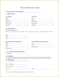 watercraft bill of sale free bill of sale of boat vessel form download word template