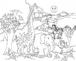 Small Picture Jungle Scene Coloring Pages Coloring Coloring Pages