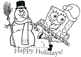 Small Picture Spongebob Christmas Coloring Pages GetColoringPagescom