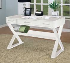 white desk home office. Wonderful Office Black Shaded Table Lamp On White Desk With Drawers And Shelf Inside Comfy Home  Office Intended