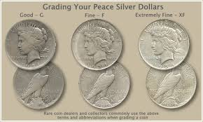 Dollar Coin Value Chart Peace Dollar Grading Old Coins Value Valuable Coins