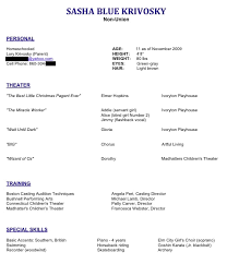 Actor Resume Mesmerizing Actor Resume NANCY CHARTIER STUDIOS