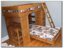 Breathtaking Wood Bunk Bed With Desk 16 Child Wooden Beds Below