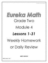 Weekly Homework Eureka Math Grade Two Module 4 Weekly Homework