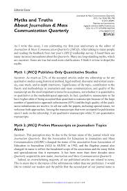 myths and truths about journalism mass communication quarterly  myths and truths about journalism mass communication quarterly pdf available