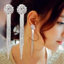 <b>Luxury Rhinestone</b> Vintage <b>Tassel Earrings</b> Drop Earring For ...
