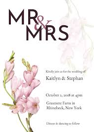 Invitationemplates For Weddings Wedding Announcement Card