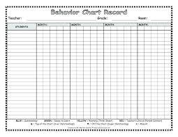 Monthly Behavior Chart For Kindergarten Monthly Behavior