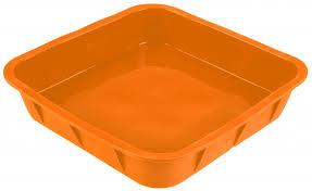 <b>Форма для выпечки</b> TalleR TR-6210, <b>квадратная</b> оранжевая