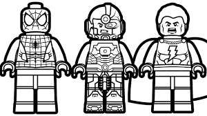 Small Picture Lego Spiderman vs Lego Shazam vs Lego Cyborg Coloring Pages