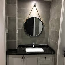 Wall mounted bathroom mirror Chrome Dolado Simple Iron Wallmount Bathroom Mirror Bathroom Round Makeup Mirror Creative Rope Hanging Mirror Lazadacom Home Bathroom Mirrors Buy Home Bathroom Mirrors At Best Price In