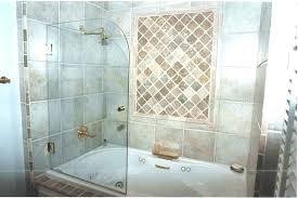 frameless bathtub door shower
