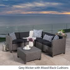puerta outdoor 6 piece wicker v shaped sectional sofa set by christopher knight home 971d9d2a 3492